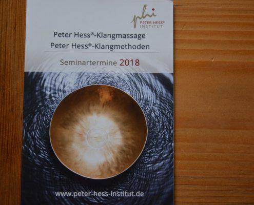 Terminbroschuere 2018 Peter Hess Institut