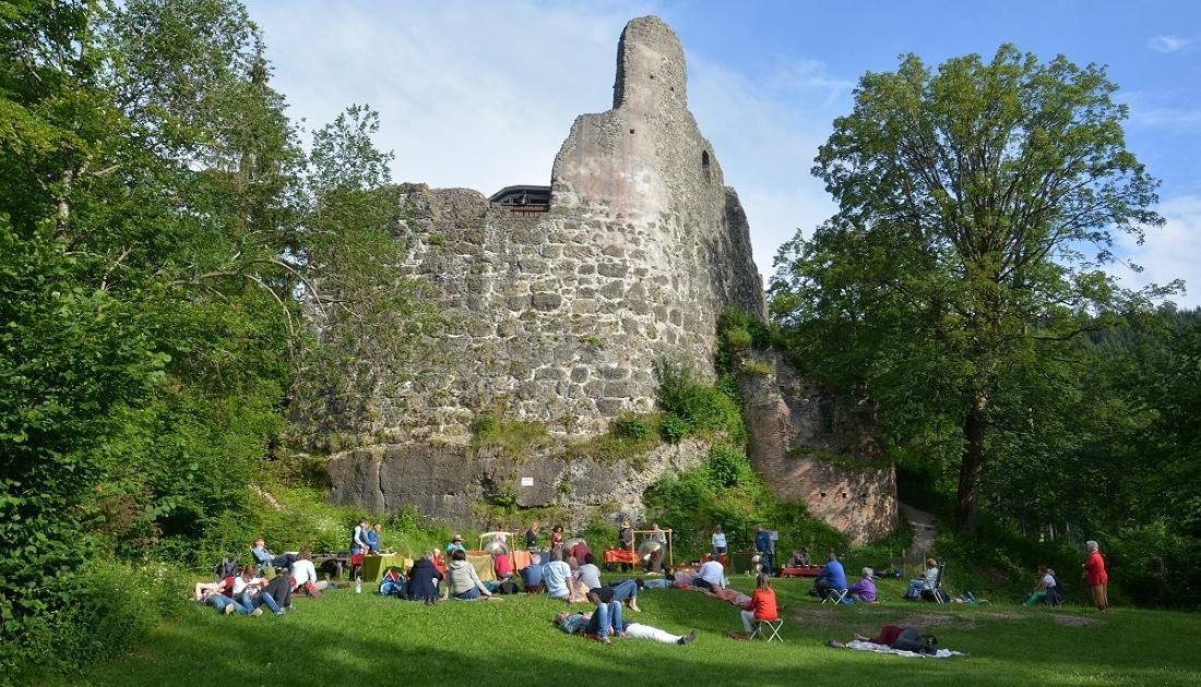 Grosser Abschlussklang bei Klang auf Alt-Trauchburg