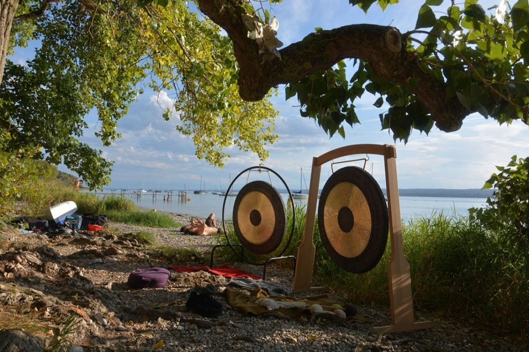 Gongsession am Ammersee