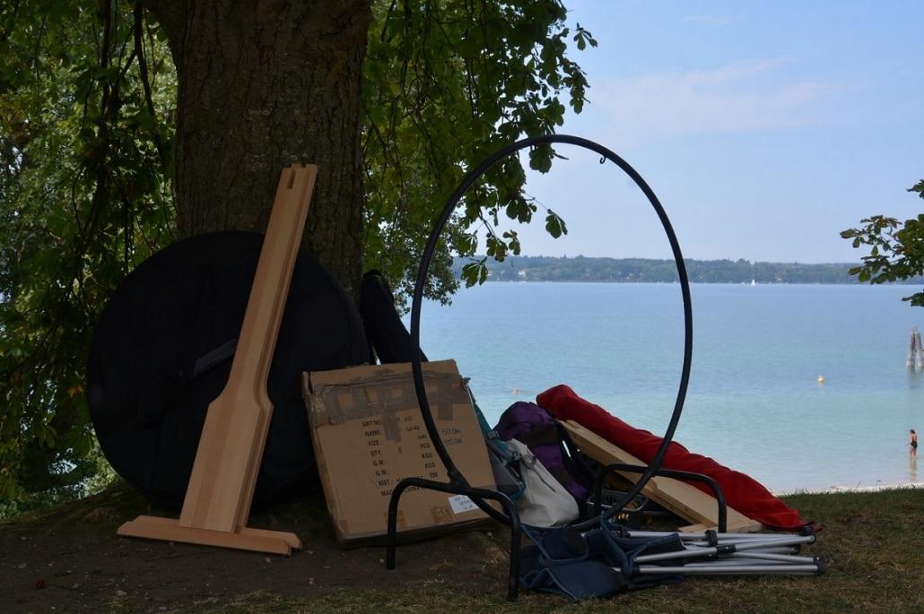 Mit Sack und Pack am Ammersee